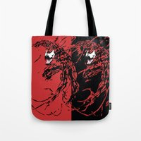 carnage Tote Bags featuring Carnage by Young Jake