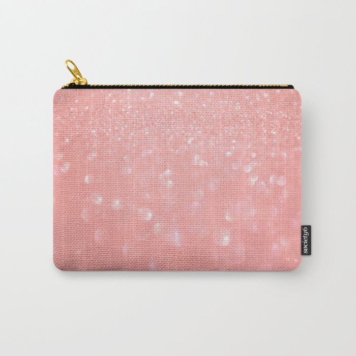 Pink luxury sparkling glitter pattern Carry-All Pouch