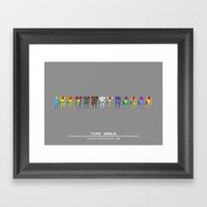 Team Samus Framed Art Print