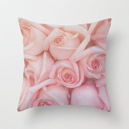 Rose Gradient Throw Pillow