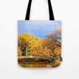 Bow Bridge in Autumn Tote Bag