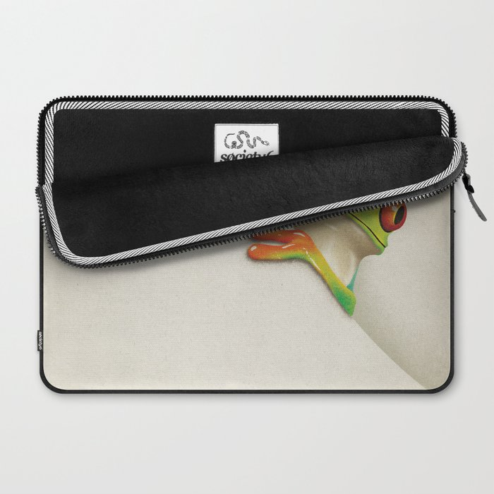 Little Red Eyed Tree Frog Laptop Sleeve