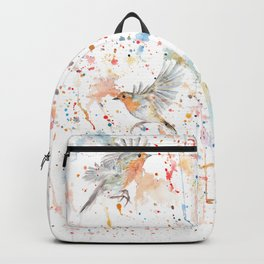 "Watercolor Painting of Picture ""Robins"" Backpack"