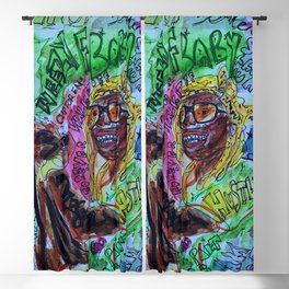 wayn,small,poster,drawing,painting,singer,rapper,rap,wall art,fan art,cool,dope,original,graffiti Blackout Curtain