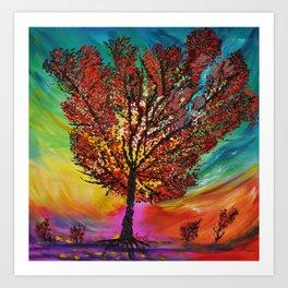 The Wow Tree Art Print