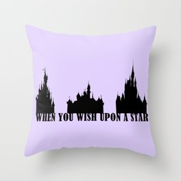 When You Wish Upon A Star Throw Pillow