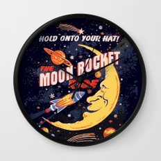 Rocket Moon Ride (vintage) Wall Clock