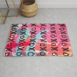Love Typography xoxo pattern Everybody Is Somebody's Special no.5 Rug