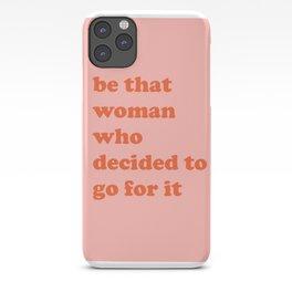 Female Empowerment Entrepreneur Quote iPhone Case