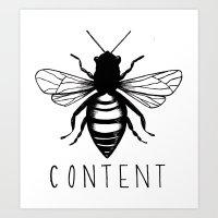 Be Content Art Print