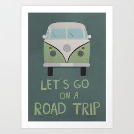 Road Trip Van Art Print