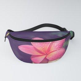 pua melia pink tropical plumeria hawaii Fanny Pack