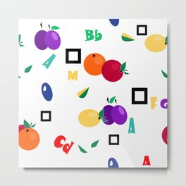 Orchard, fruit Metal Print