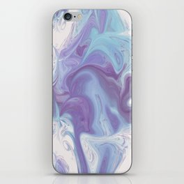 Purple, Blue, and White Abstract iPhone Skin