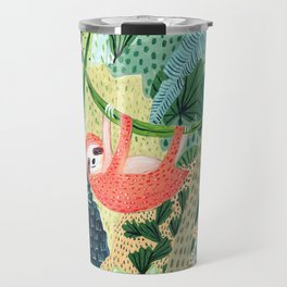 Jungle Sloth Family Travel Mug