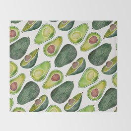 Avocado Slices Throw Blanket