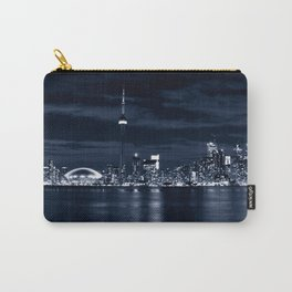 Toronto Skyline, Blue Carry-All Pouch