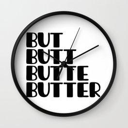 But Quad Wall Clock