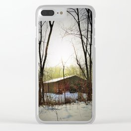 Cottage in the woods Clear iPhone Case