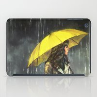 alicexz iPad Cases featuring All Upon the Downtown Train by Alice X. Zhang