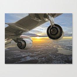 Airbus A-340 Canvas Print