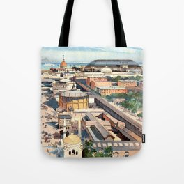 Amazing View from the Ferris Wheel in Chicago 1893 Tote Bag