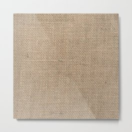 Burlap Texture Metal Print