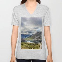 Enol, the Lakes of Covadonga Unisex V-Neck
