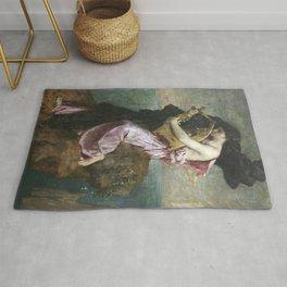 Jules-Élie Delaunay - Sapho embrassant sa lyre Rug