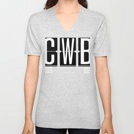 CWB - Curitiba - Brazil Airport Code Souvenir or Gift Design  Unisex V-Neck