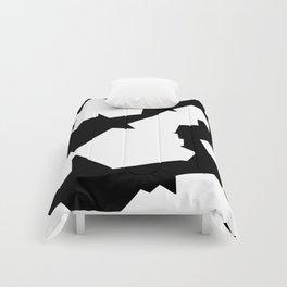 BLACK AND WHITE PRINT Comforters