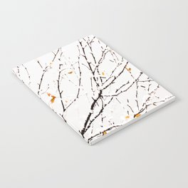 Snowy birch twigs and leaves #decor #society6 #buyart Notebook