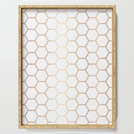 Honeycomb - Rose Gold #372 Serving Tray