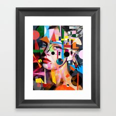 SHE LOVES COLORS Framed Art Print