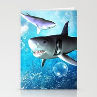 shark Stationery Cards featuring Shark by nicky2342