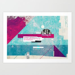 Hello #2 (series) Art Print