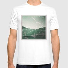 On the road again MEDIUM White Mens Fitted Tee