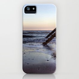 Withernsea Groynes at Sunset iPhone Case