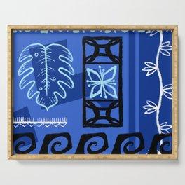 Hawaiian Pattern #1 - blue! Serving Tray