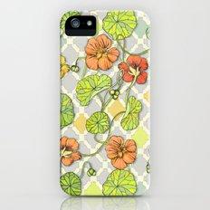 Climbing Nasturtiums in Lemon, Lime and Tangerine iPhone SE Slim Case