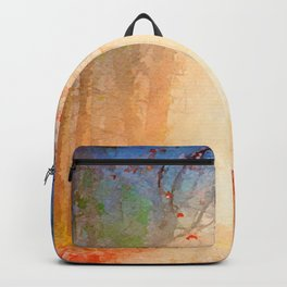 Magical forest watercolor painting #1 Backpack