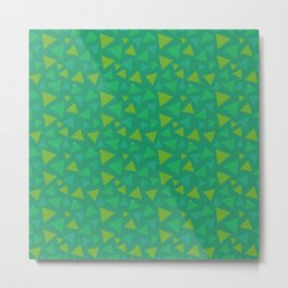 animal crossing grass pattern triangle spring green Metal Print