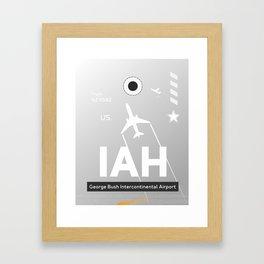 IAH HOUSTON TEXAS AIRPORT CODE Framed Art Print