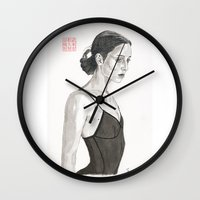 ballerina Wall Clocks featuring Ballerina by Bryan James