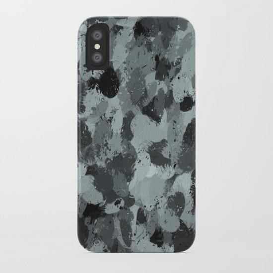 Black and Smokey Blue Pastels 3216 iPhone Case