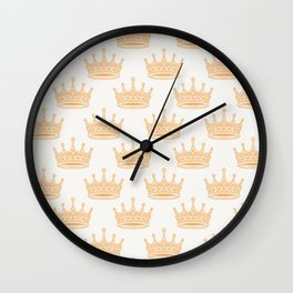 Always Wear Your Invisible Crown Quote - Orange Wall Clock