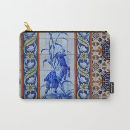 Goat Vintage Mosaic Tiles Carry-All Pouch