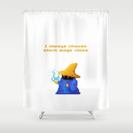 Black Mage Shower Curtain