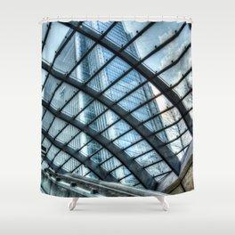 London Escalator Shower Curtain