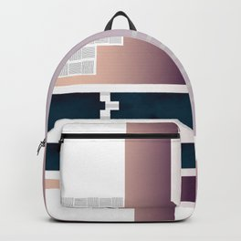 Minimal Gradient Geometric Abstract Backpack